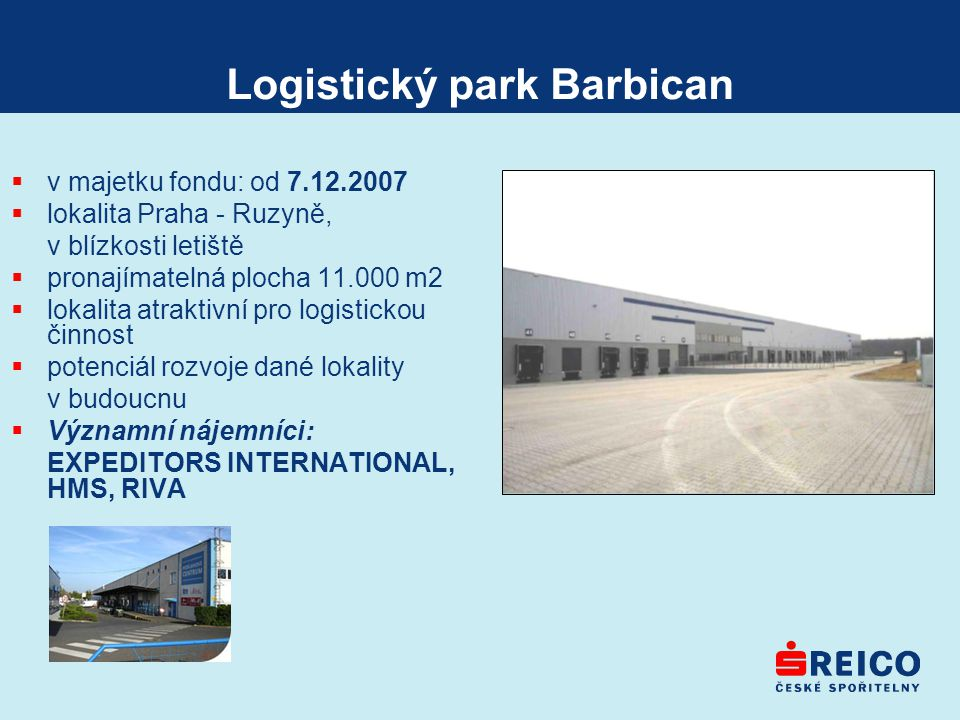 Logistický park Barbican