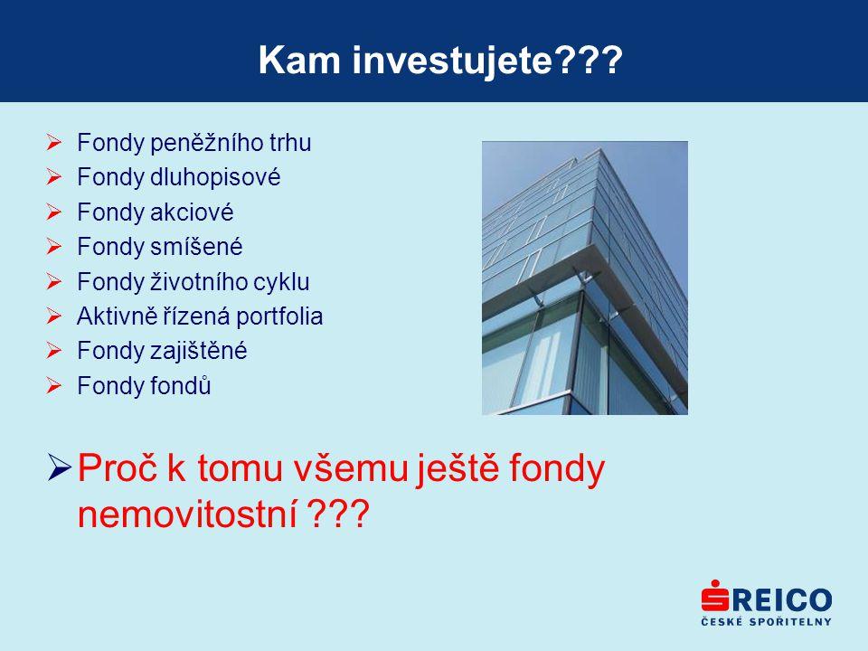 Proč k tomu všemu ještě fondy nemovitostní