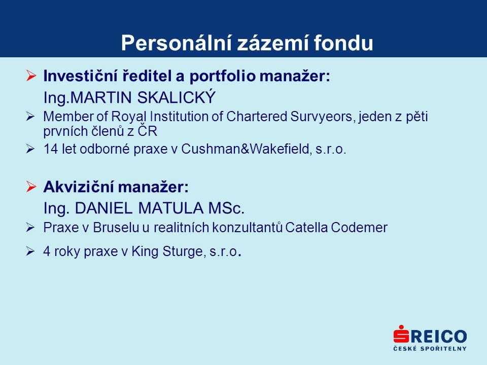 Personální zázemí fondu
