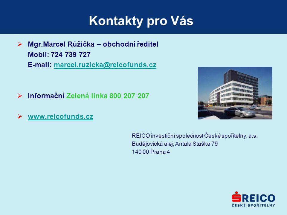 Kontakty pro Vás Mgr.Marcel Růžička – obchodní ředitel