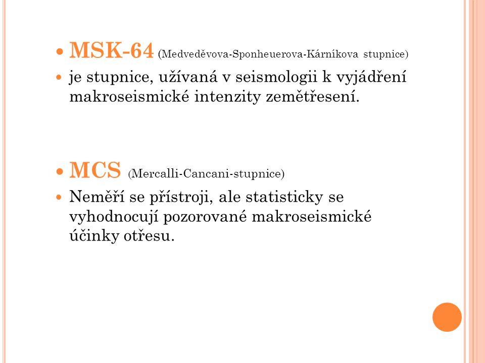 MSK-64 (Medveděvova-Sponheuerova-Kárníkova stupnice)