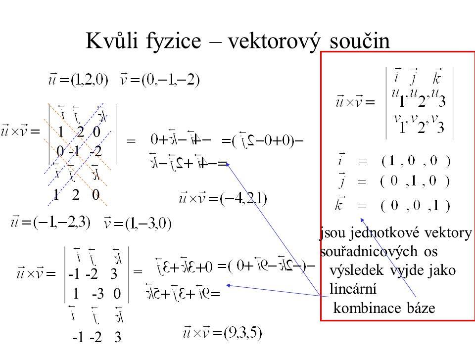 Kvůli fyzice – vektorový součin