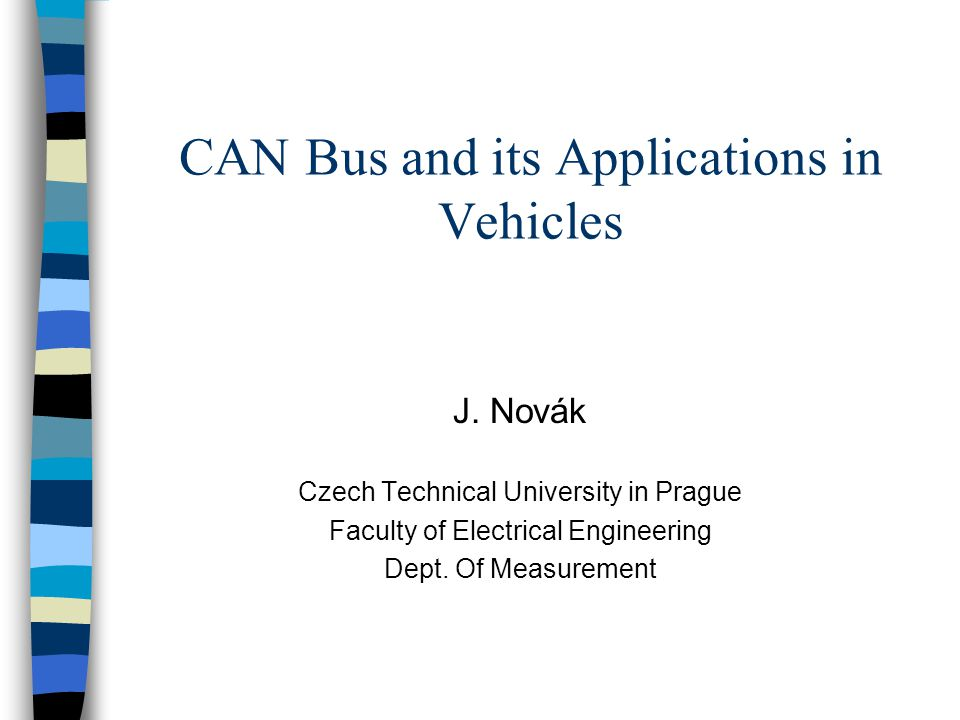 CAN Bus and its Applications in Vehicles