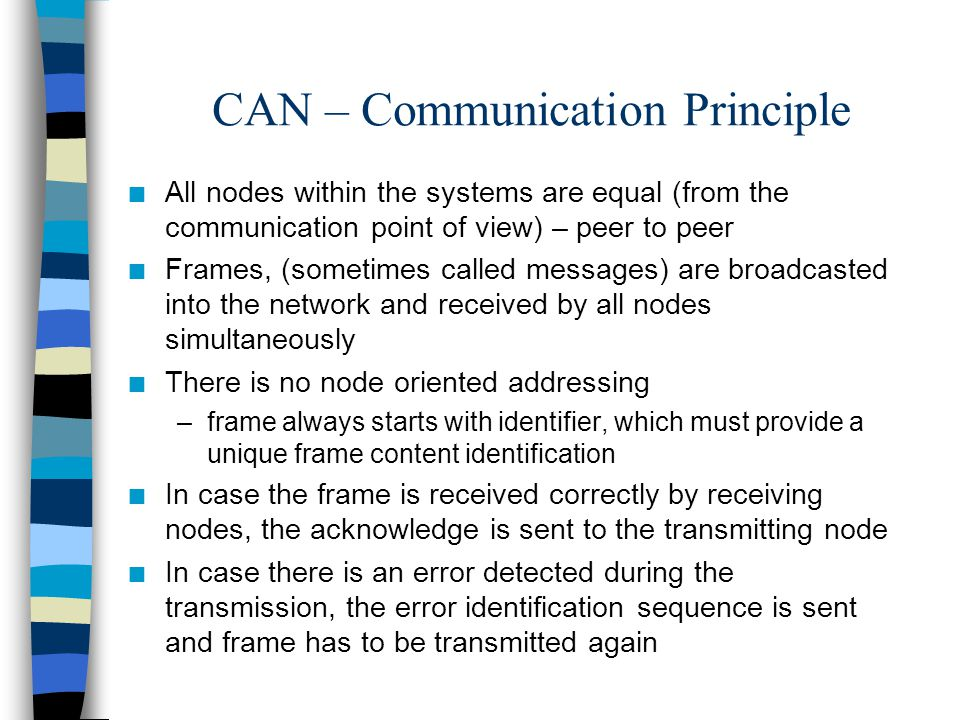 CAN – Communication Principle