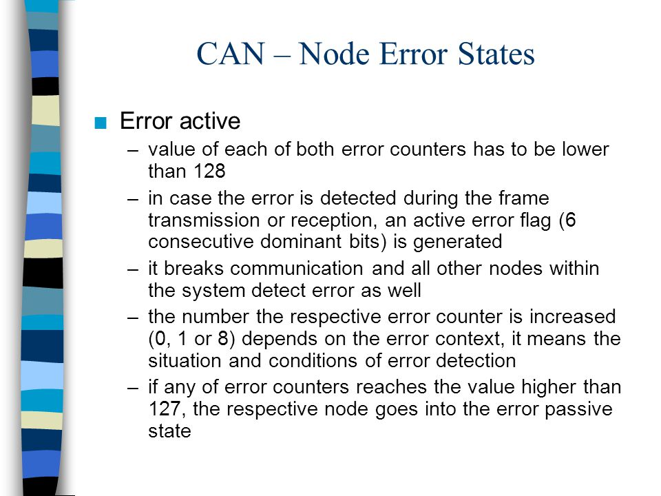CAN – Node Error States Error active