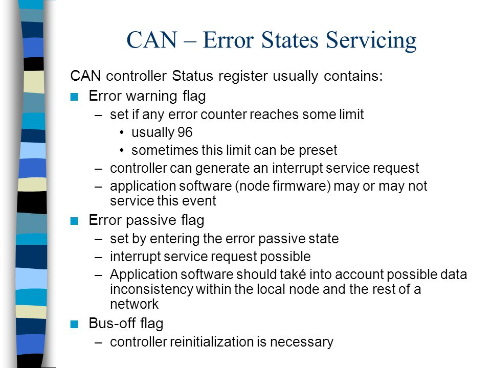 CAN – Error States Servicing