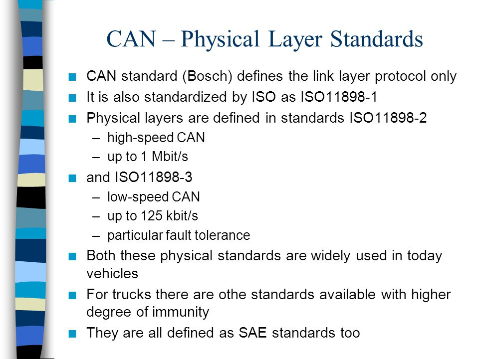 CAN – Physical Layer Standards