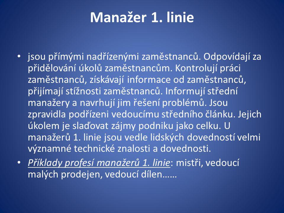 Manažer 1. linie
