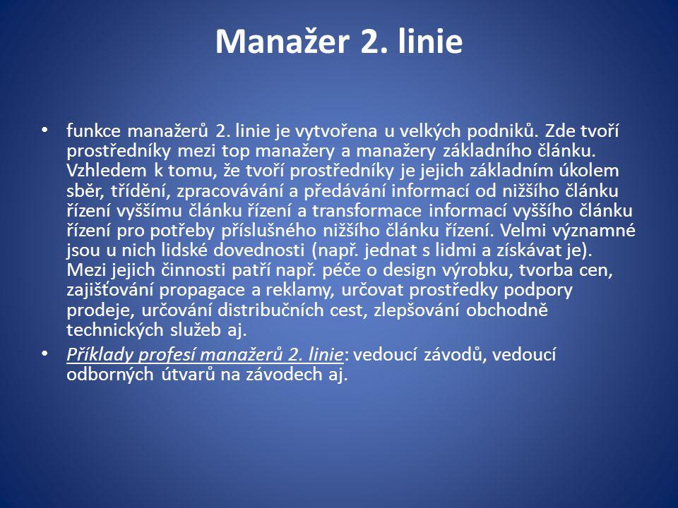 Manažer 2. linie