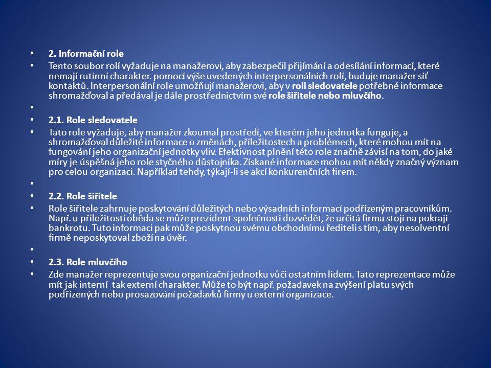 2. Informační role