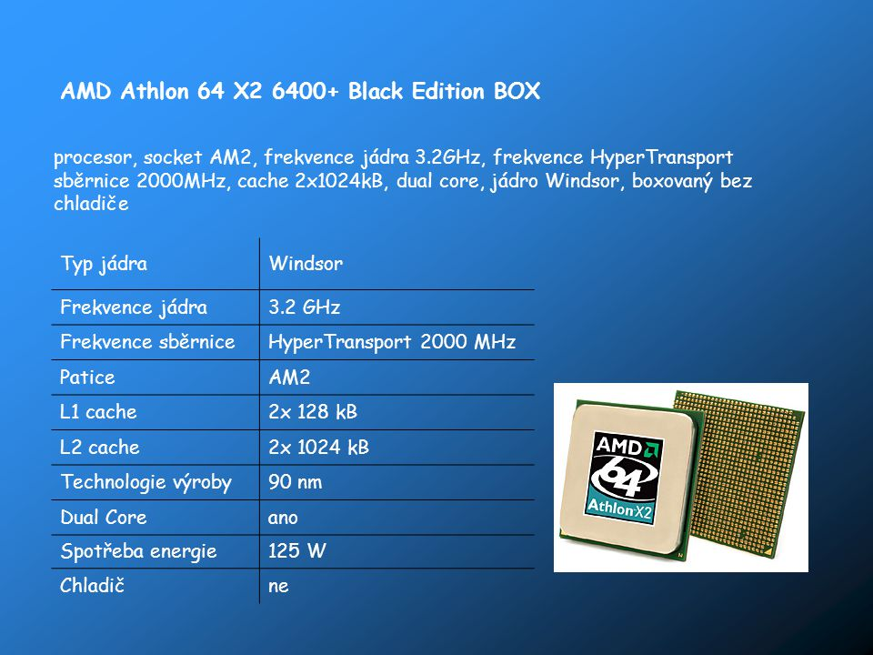 AMD Athlon 64 X2 6400+ Black Edition BOX