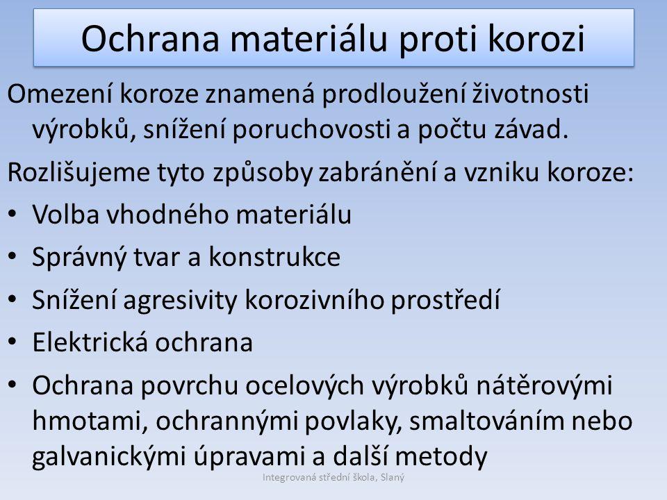 Ochrana materiálu proti korozi