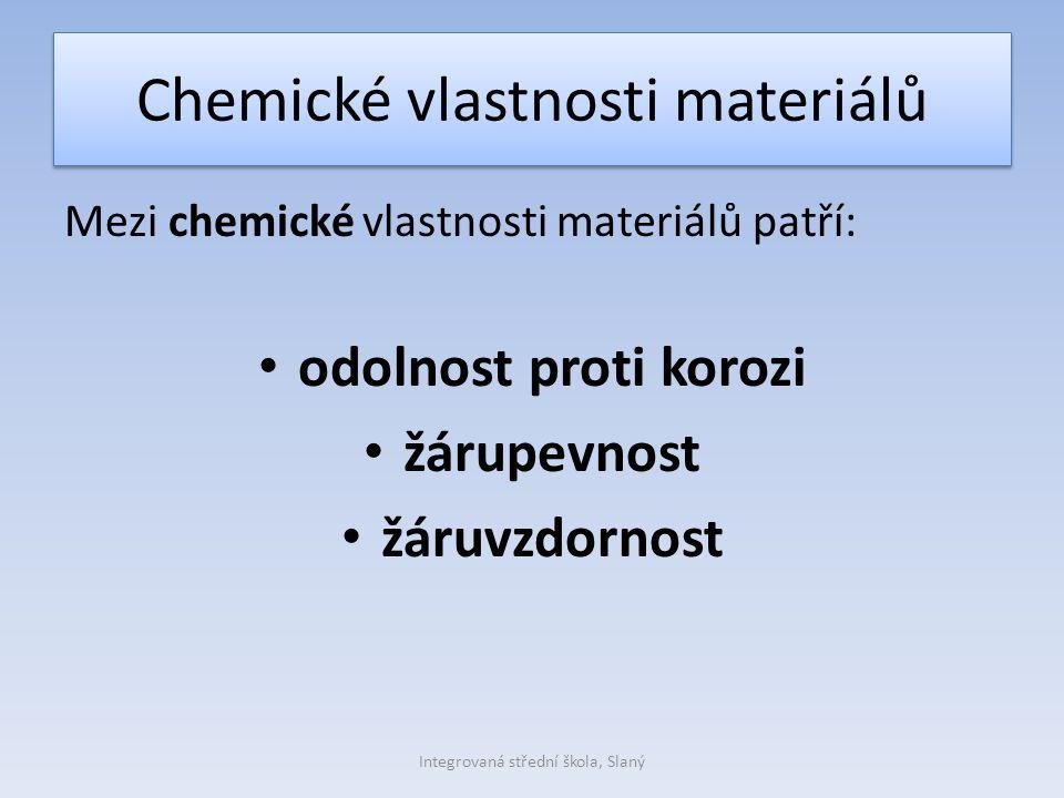 Chemické vlastnosti materiálů
