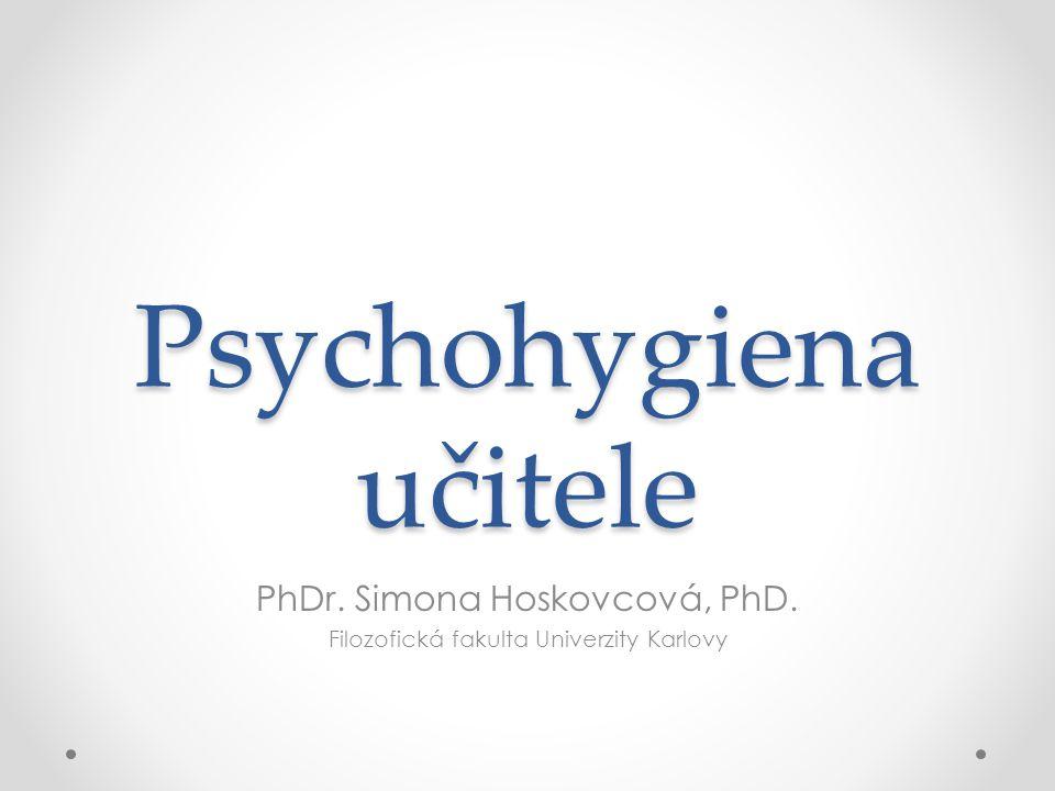 Psychohygiena učitele