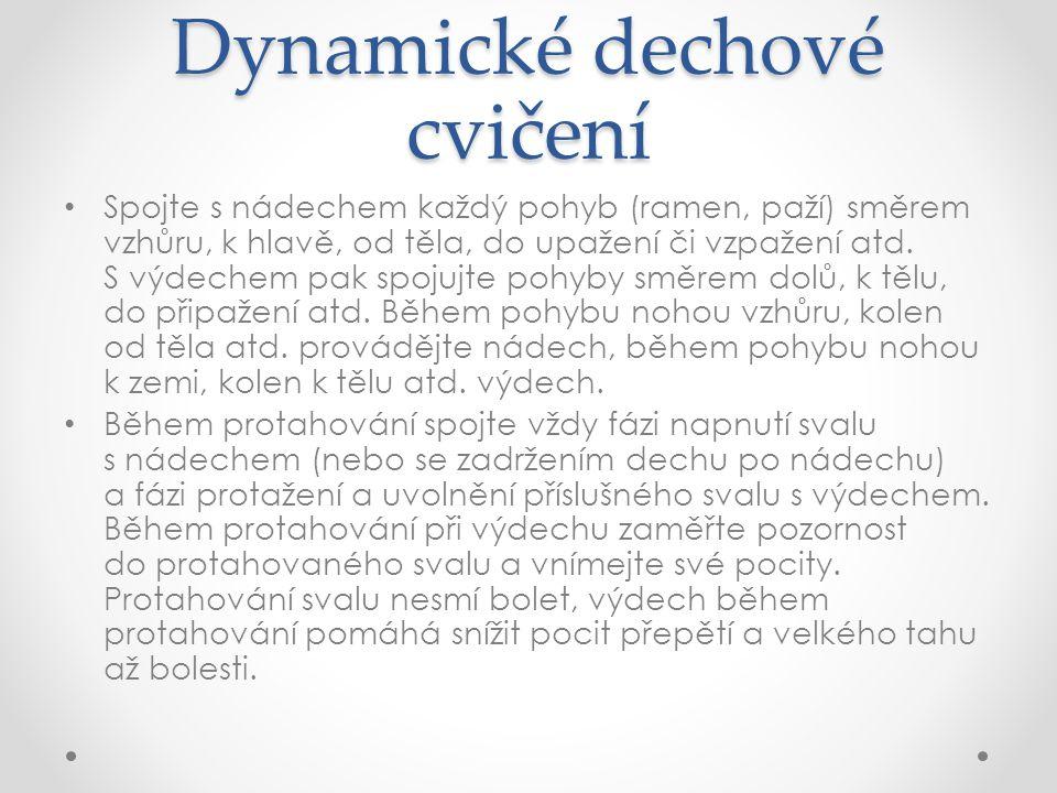 Dynamické dechové cvičení