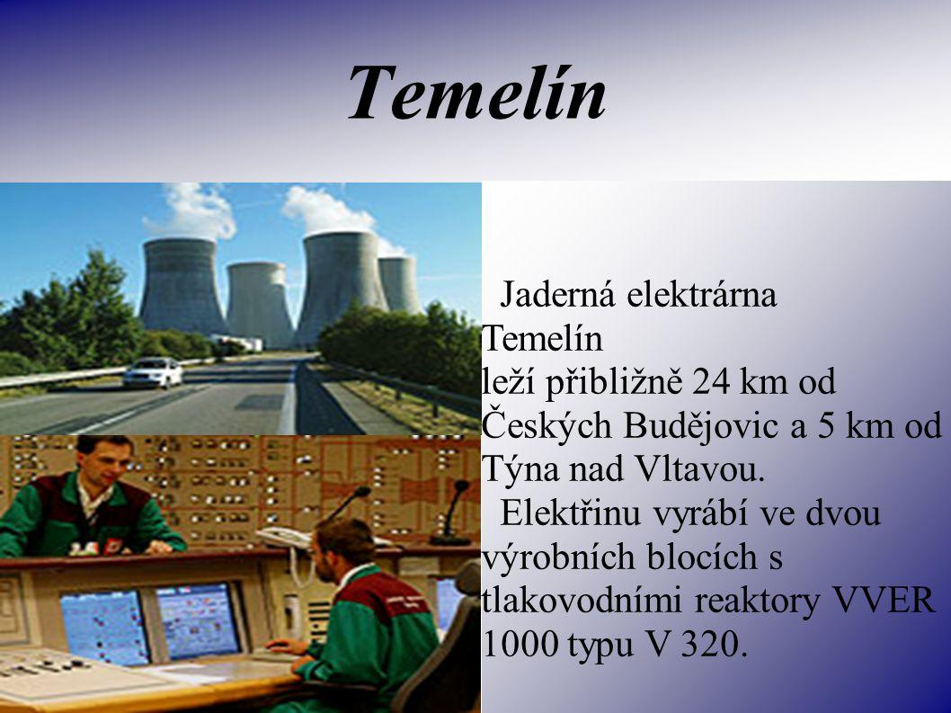 Temelín Jaderná elektrárna Temelín