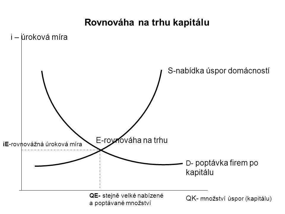 Rovnováha na trhu kapitálu