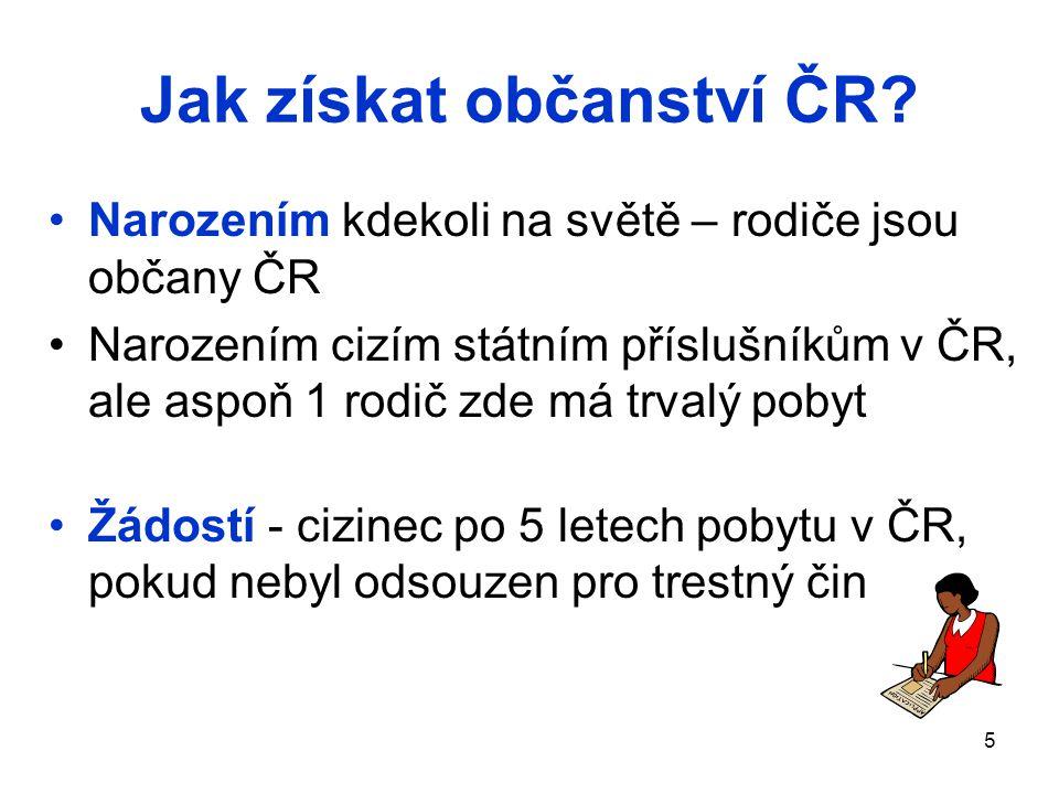 Jak získat občanství ČR