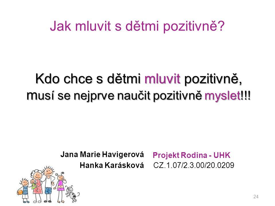 Jak mluvit s dětmi pozitivně