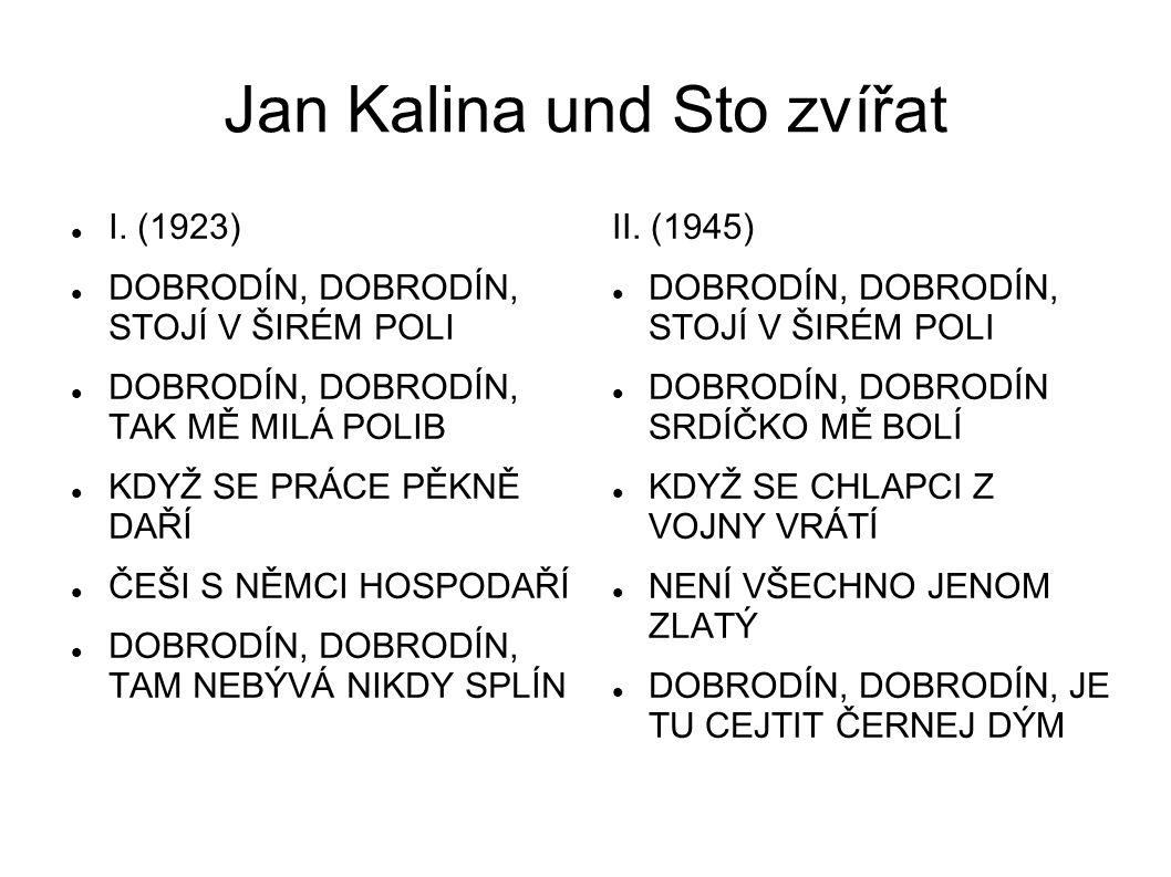 Jan Kalina und Sto zvířat