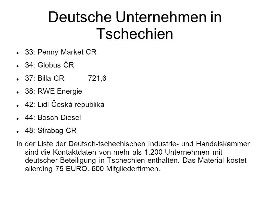 Deutsche Unternehmen in Tschechien