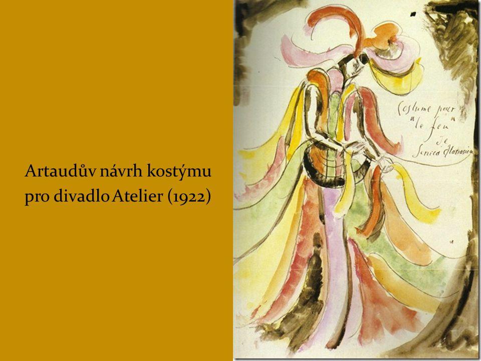 Artaudův návrh kostýmu
