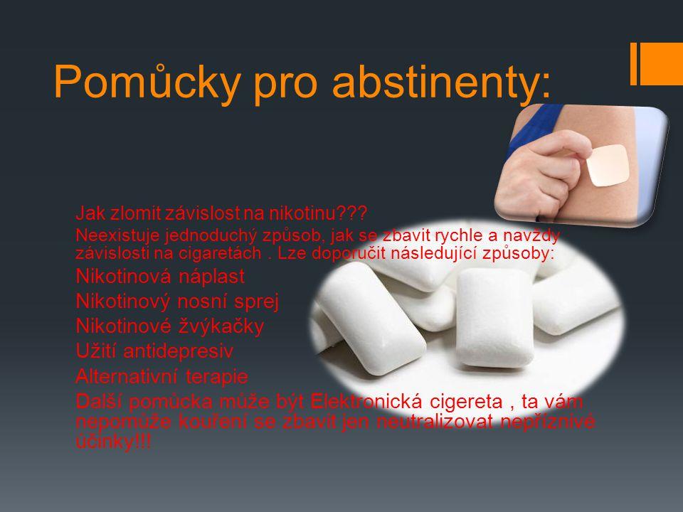 Pomůcky pro abstinenty: