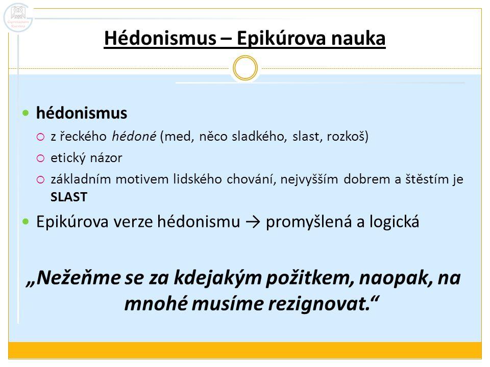 Hédonismus – Epikúrova nauka