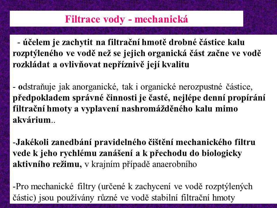 Filtrace vody - mechanická