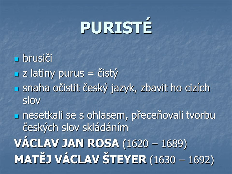 PURISTÉ VÁCLAV JAN ROSA (1620 – 1689)