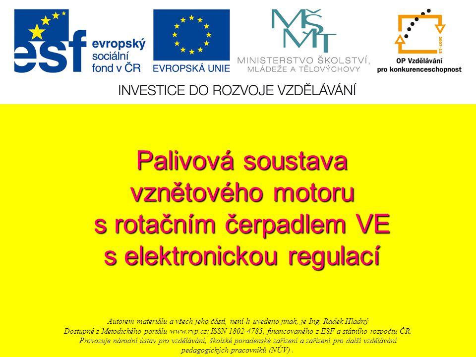 s rotačním čerpadlem VE s elektronickou regulací
