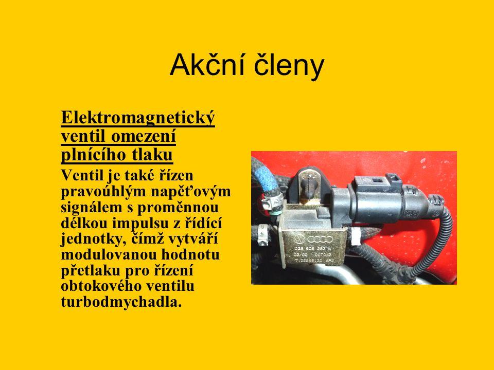 Akční členy Elektromagnetický ventil omezení plnícího tlaku