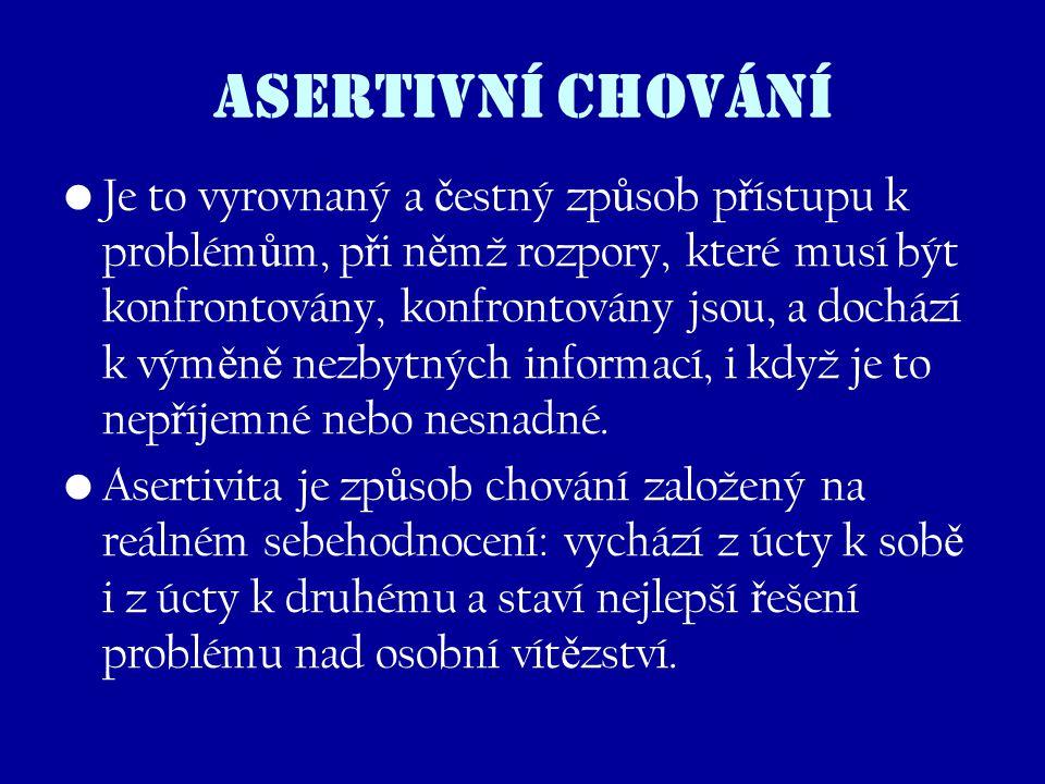 ASERTIVNÍ CHOVÁNÍ