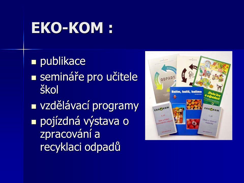 EKO-KOM : publikace semináře pro učitele škol vzdělávací programy