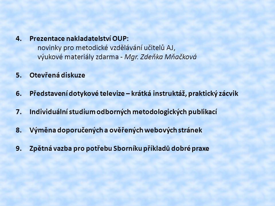 Prezentace nakladatelství OUP:
