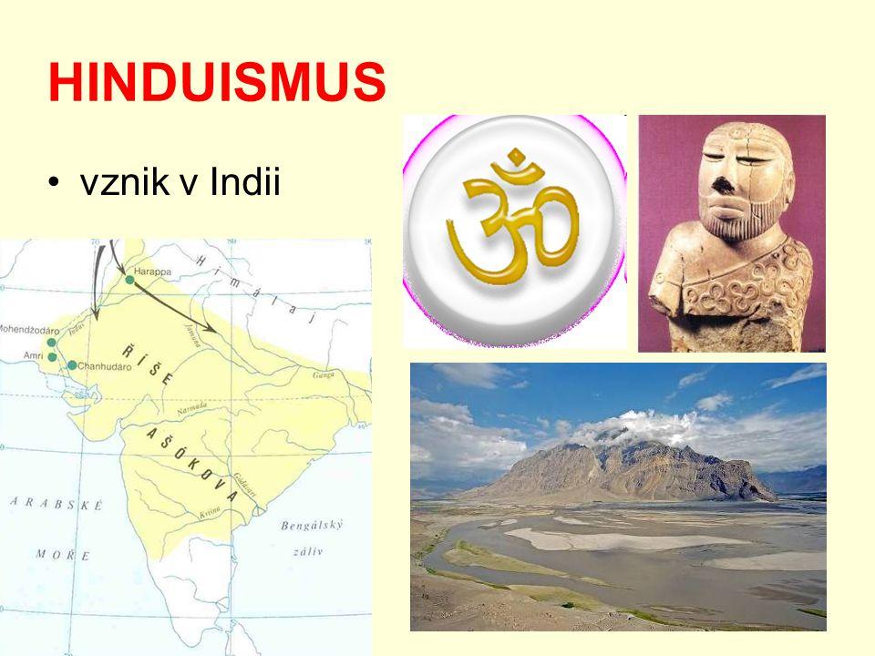 HINDUISMUS vznik v Indii