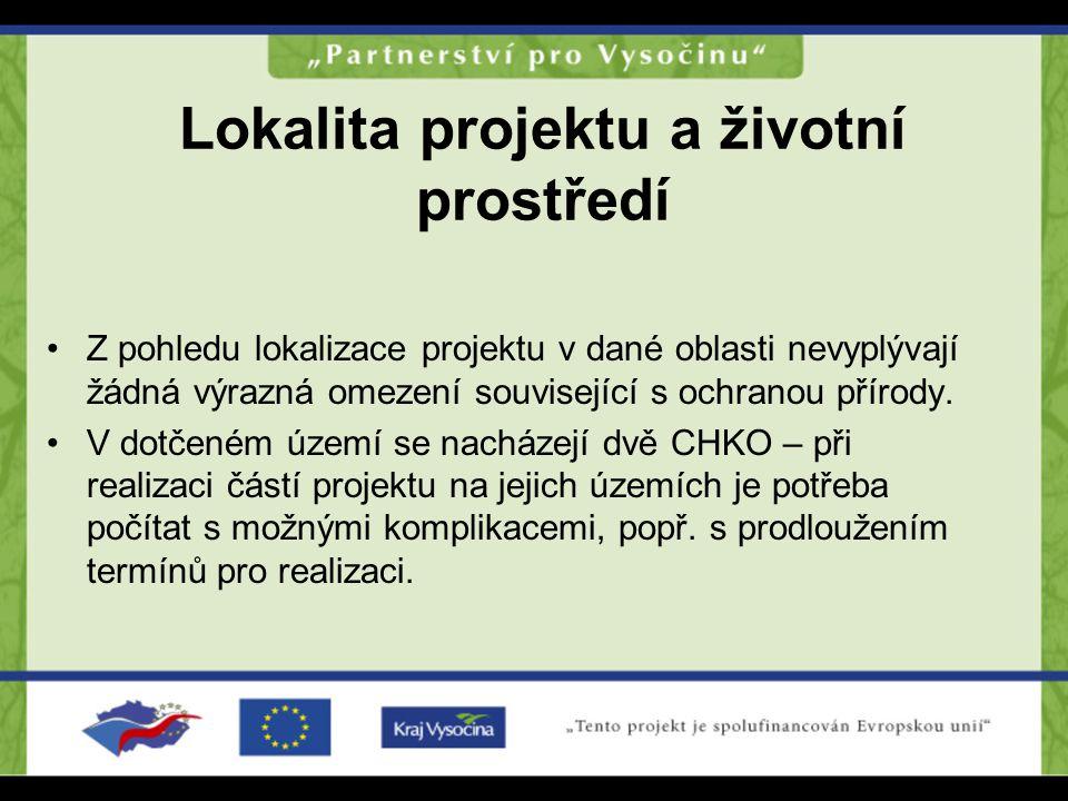 Lokalita projektu a životní prostředí