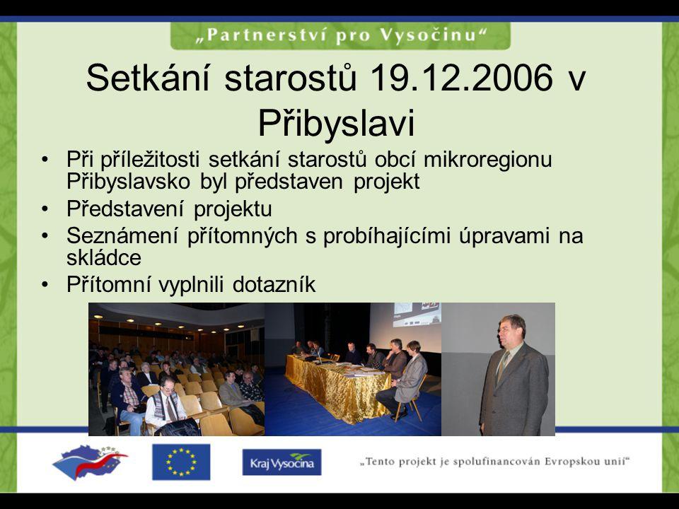 Setkání starostů 19.12.2006 v Přibyslavi