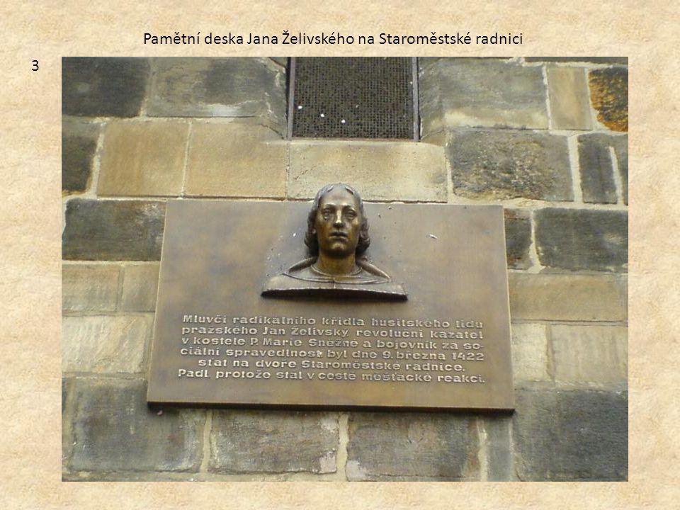 Pamětní deska Jana Želivského na Staroměstské radnici