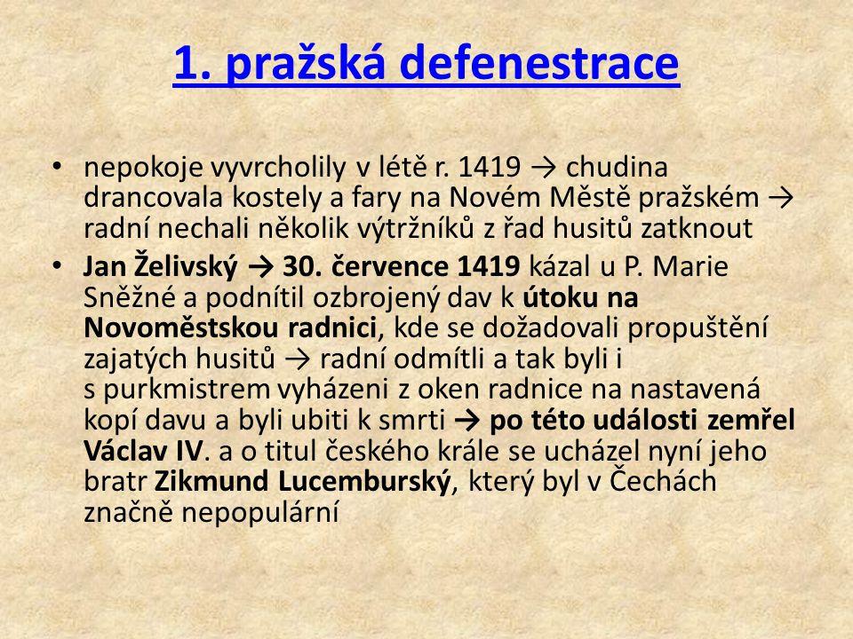 1. pražská defenestrace