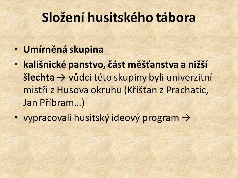 Složení husitského tábora
