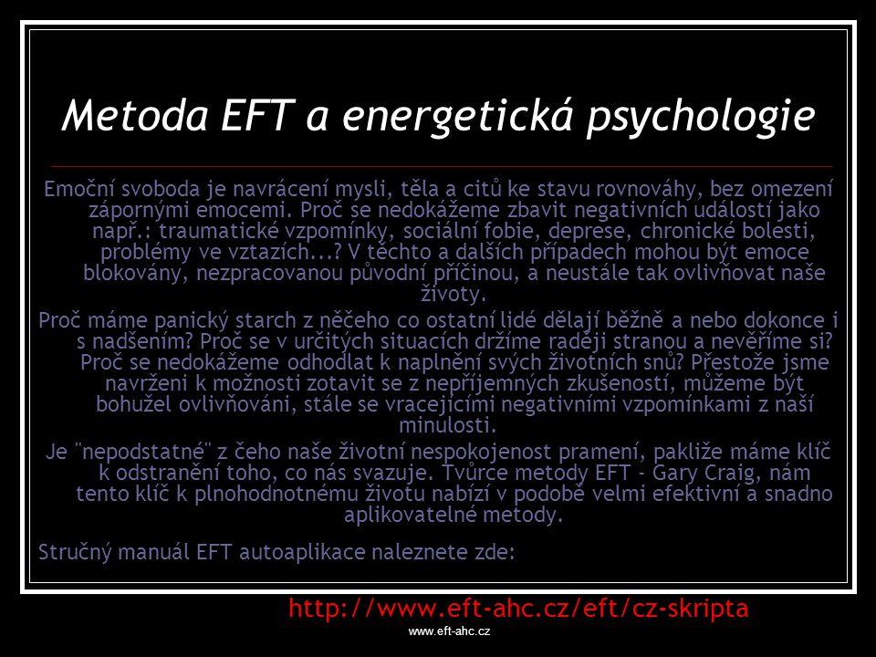 Metoda EFT a energetická psychologie
