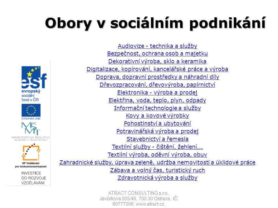 Obory v sociálním podnikání