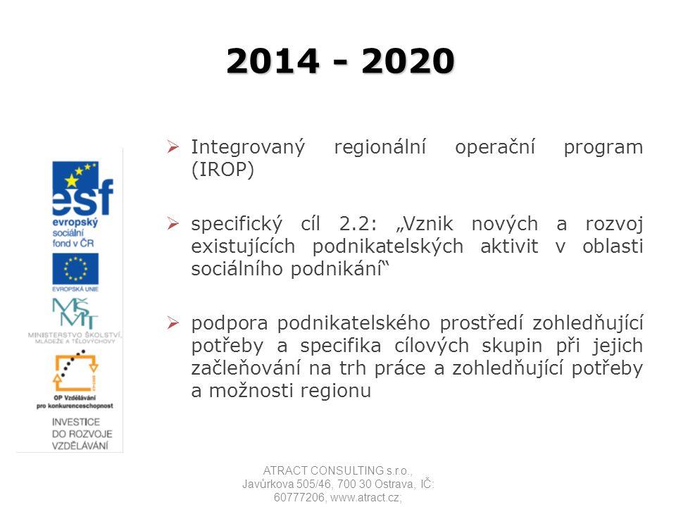 2014 - 2020 Integrovaný regionální operační program (IROP)