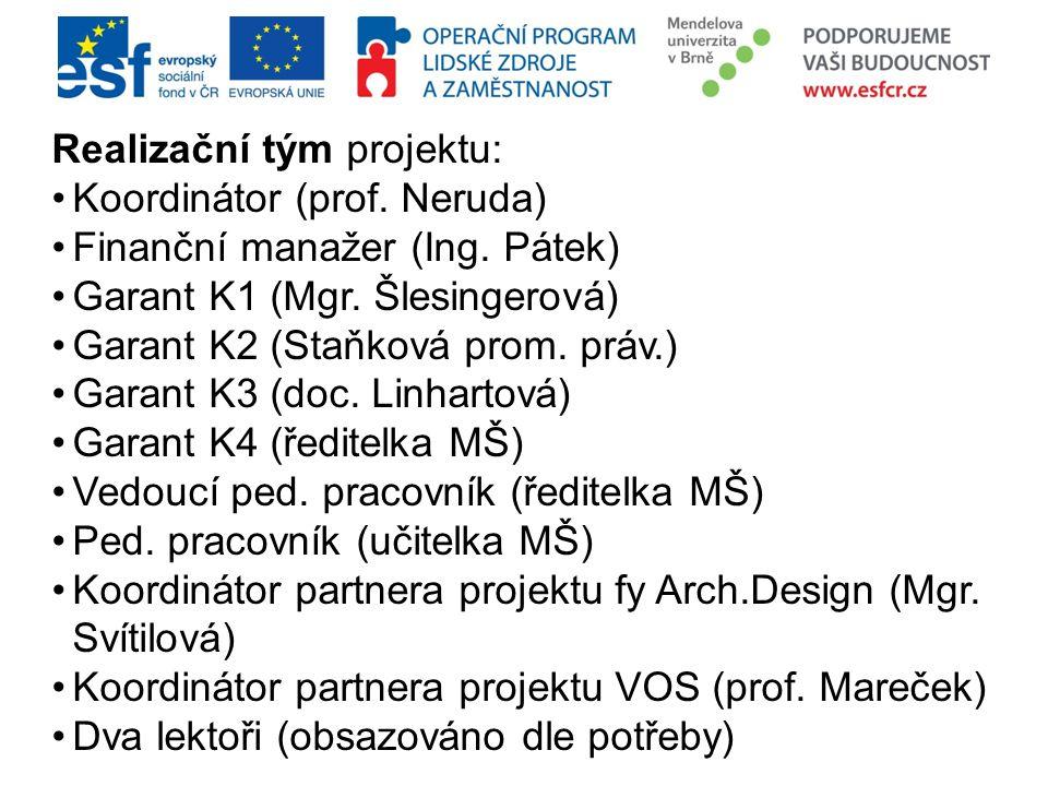 Realizační tým projektu: