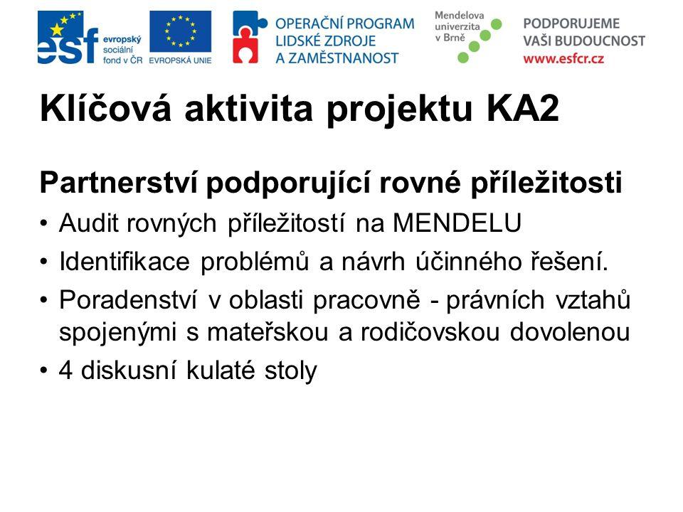 Klíčová aktivita projektu KA2