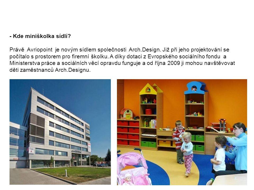 Představení projektu Firemní miniškolky společnosti Arch.Design