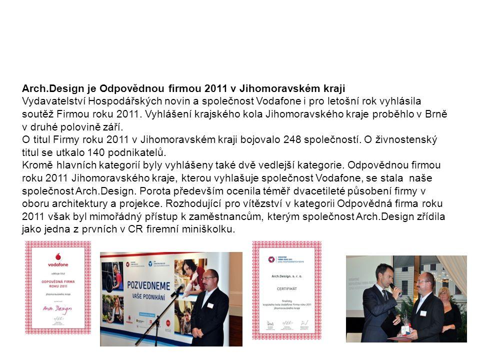 Odpovědná firma JmK 2011 Arch.Design je Odpovědnou firmou 2011 v Jihomoravském kraji.