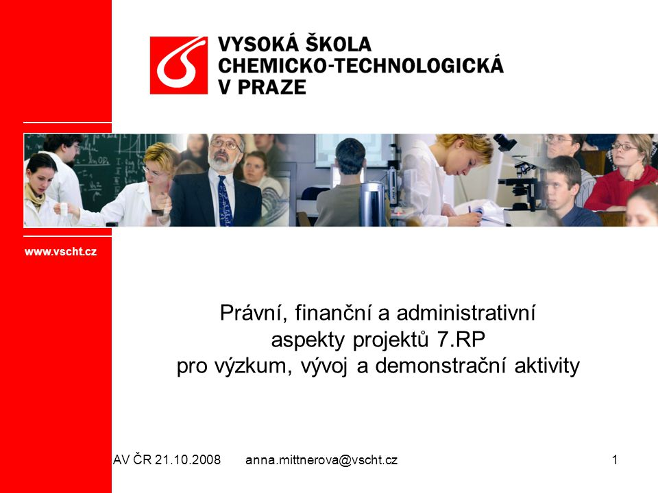 Právní, finanční a administrativní aspekty projektů 7.RP