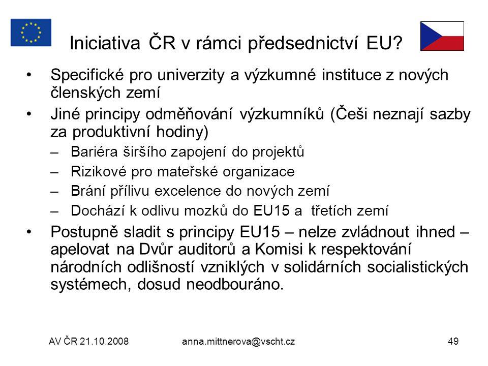 Iniciativa ČR v rámci předsednictví EU